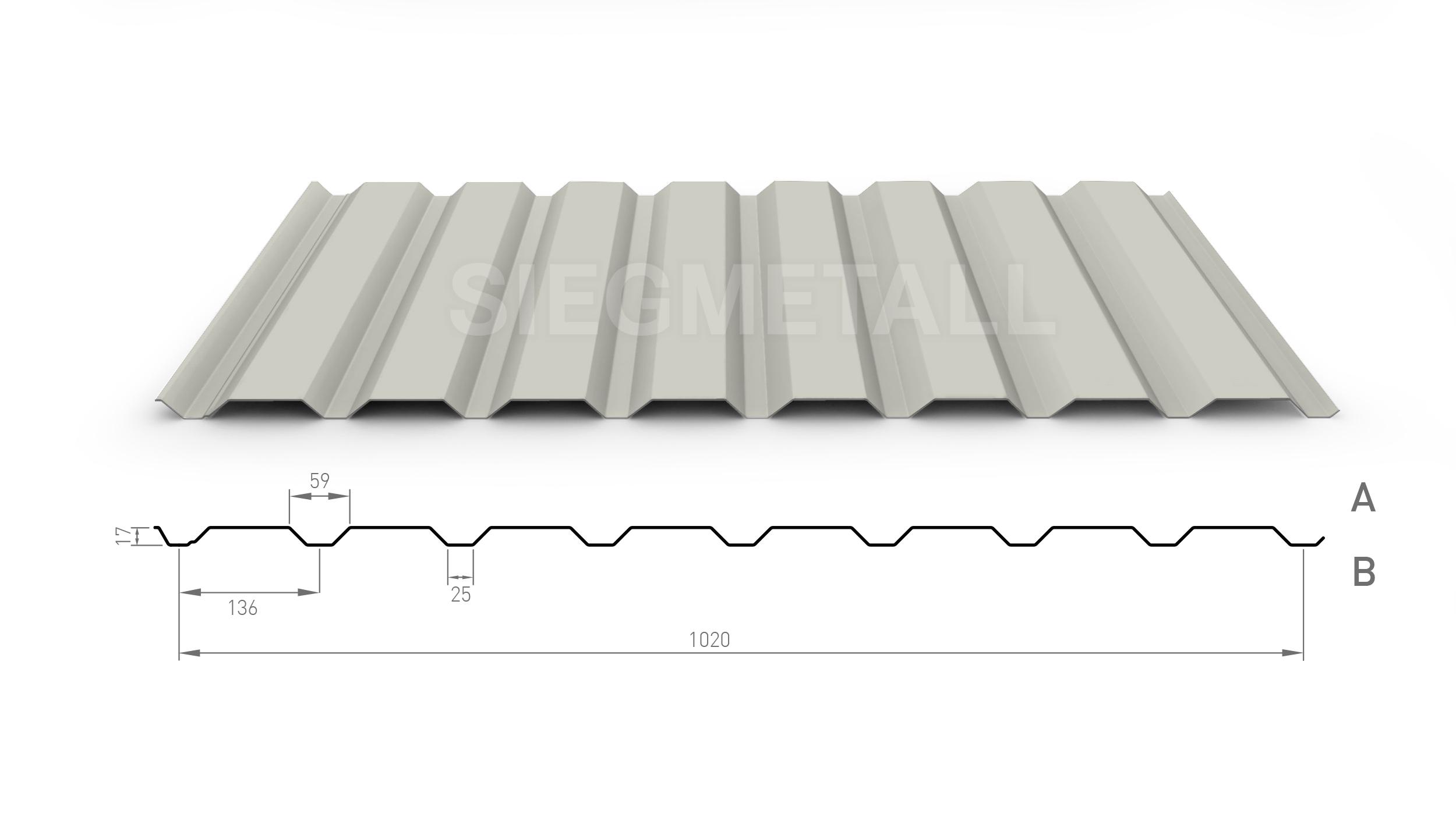 Profil PS18//1064CR Material Stahl Dachblech Farbe Anthrazitgrau Profilblech St/ärke 0,63 mm Beschichtung 25 /µm Wellblech